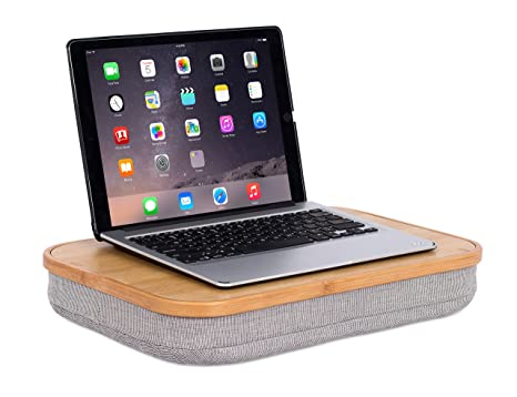 BirdRock Home Bamboo Lap Desk With Laptop Storage Compartment | Pillow  Cushioned Laptop Accessories Book Stand