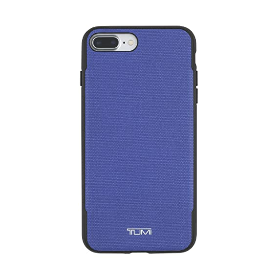 official photos dabfe ea518 TUMI Coated Canvas Co-Mold Case for iPhone 7 Plus - Blue Coated Canvas