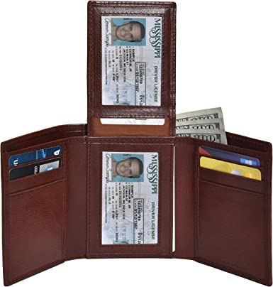 RFID Blocking Wallet with Gift Box Leather Wallets for Men SHARKACE Mens Trifold Bifold Wallet