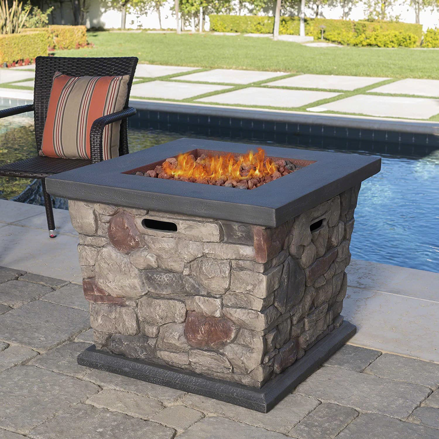 8 Best Rustic Stone Fire Pits That Don T Rust Outdoor