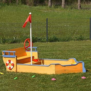 Animalmarketonline sabbiera Juego de Madera para jardín Niño Luca 190 cm: Amazon.es: Juguetes y juegos