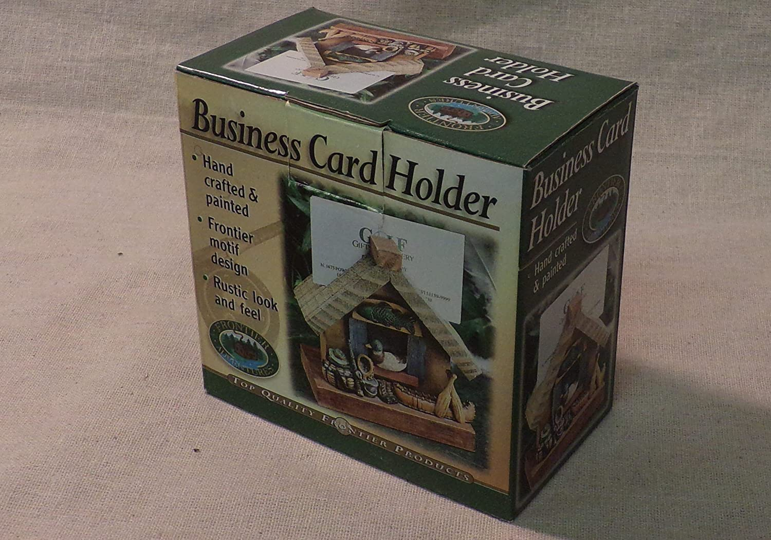 Amazon.com : Business Card Holder - Hunting and Fishing Theme ...