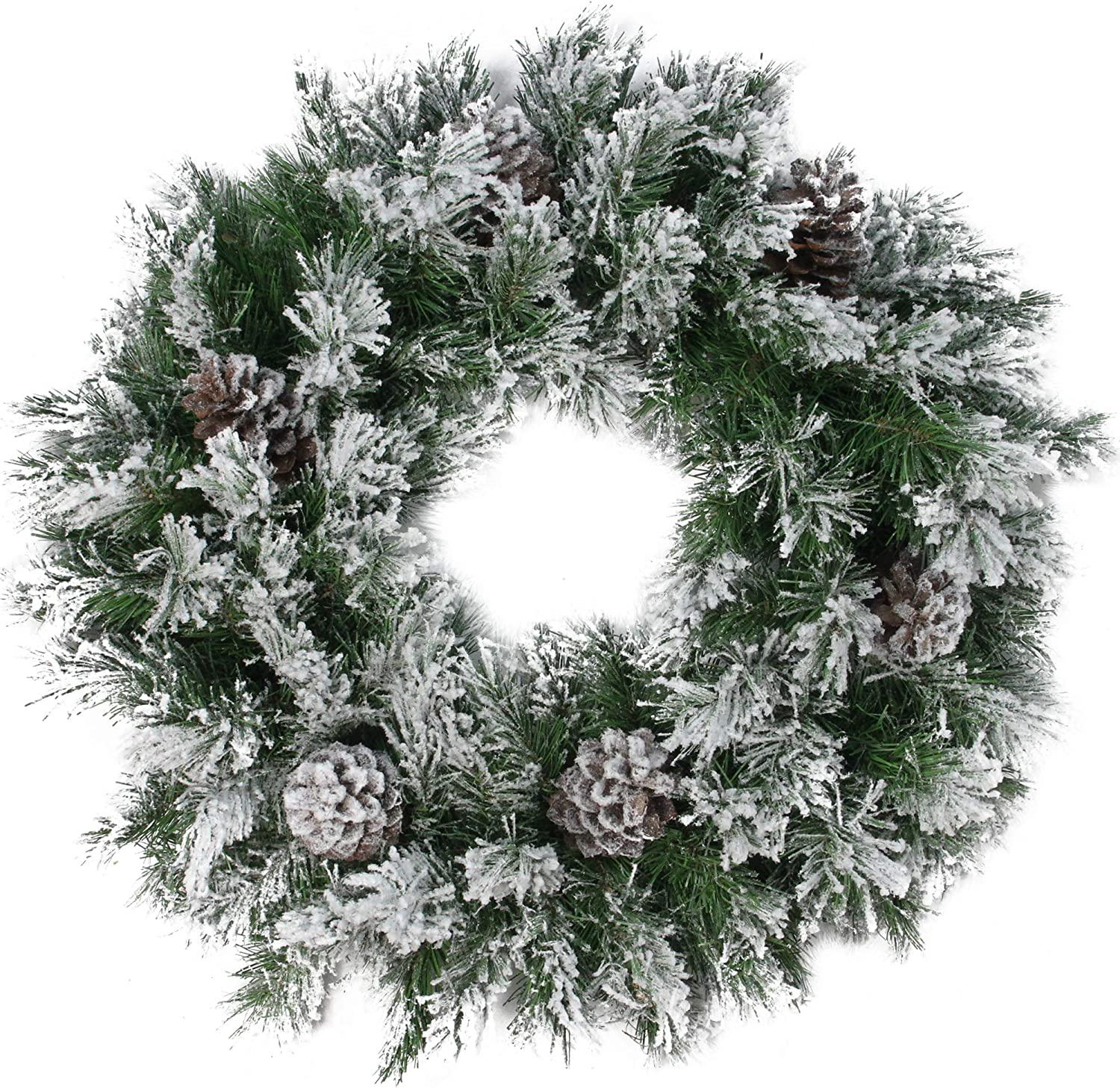 Flocked White Wreath