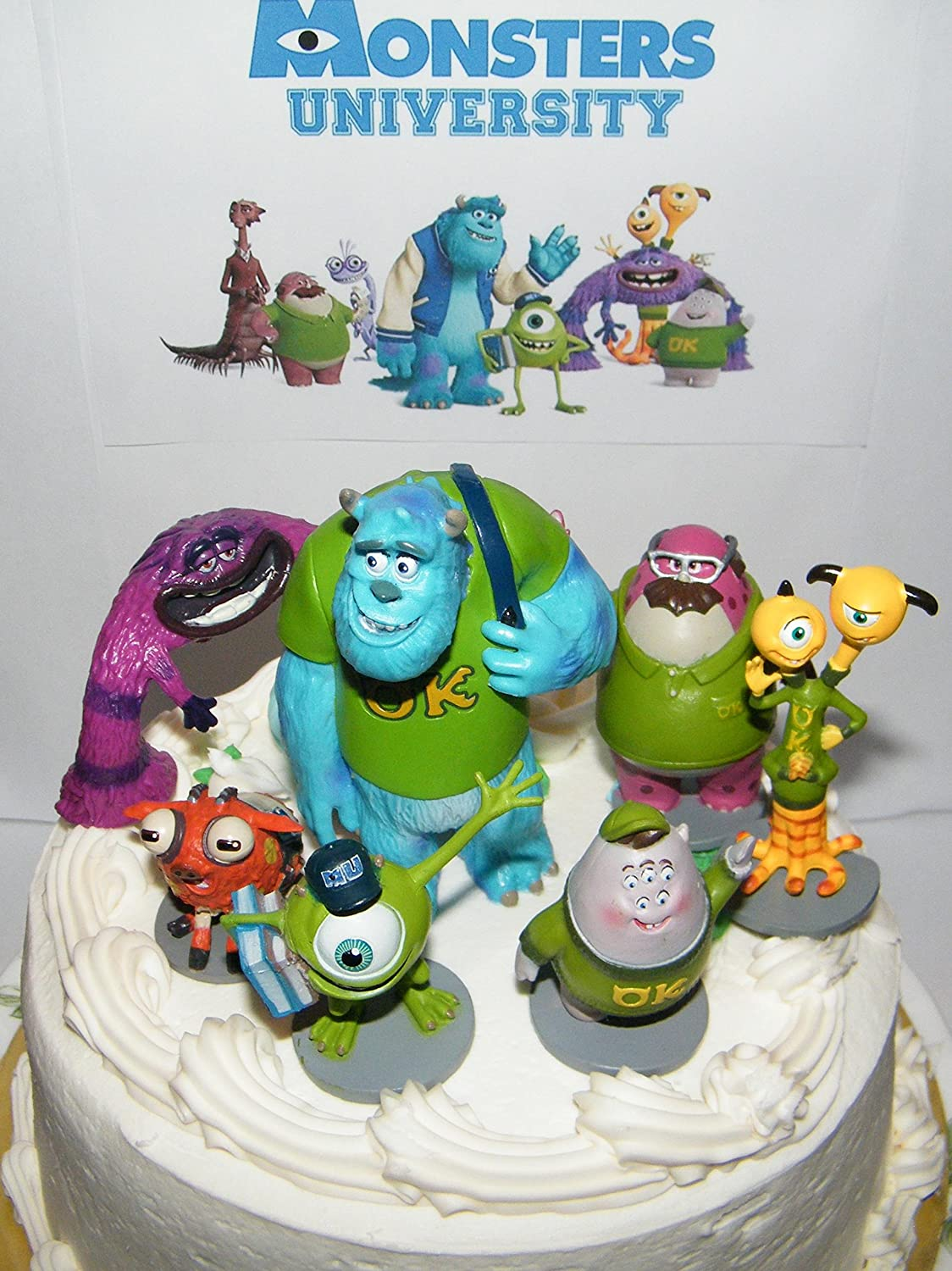 Amazoncom Disney Monsters Inc Deluxe Mini Cake Toppers Cupcake