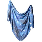 Large Premium Knit Baby Swaddle Receiving Blanket Galaxy  by Copper Pearl
