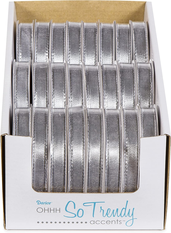Darice Metallic Ribbon Gold 3//8 x 4 yd