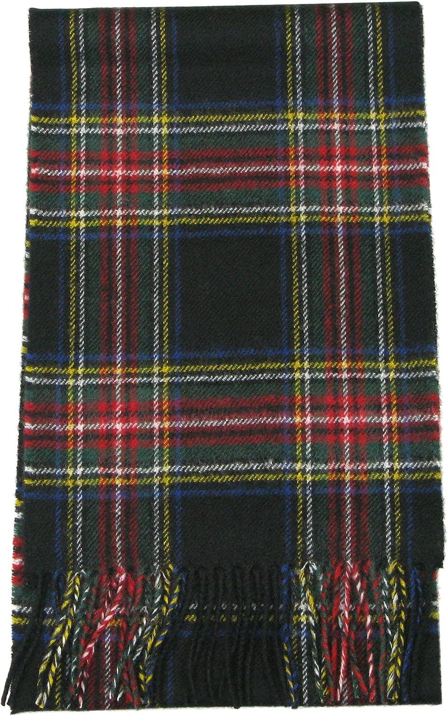 Made in Scotland Lovarzi Wool Tartan Scarf for Men /& Women Pure Lambswool Tartan Scarves