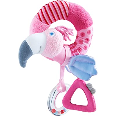HABA Flamigo Gustav - Soft Plush Clutching Spiral Activity Figure: Toys & Games