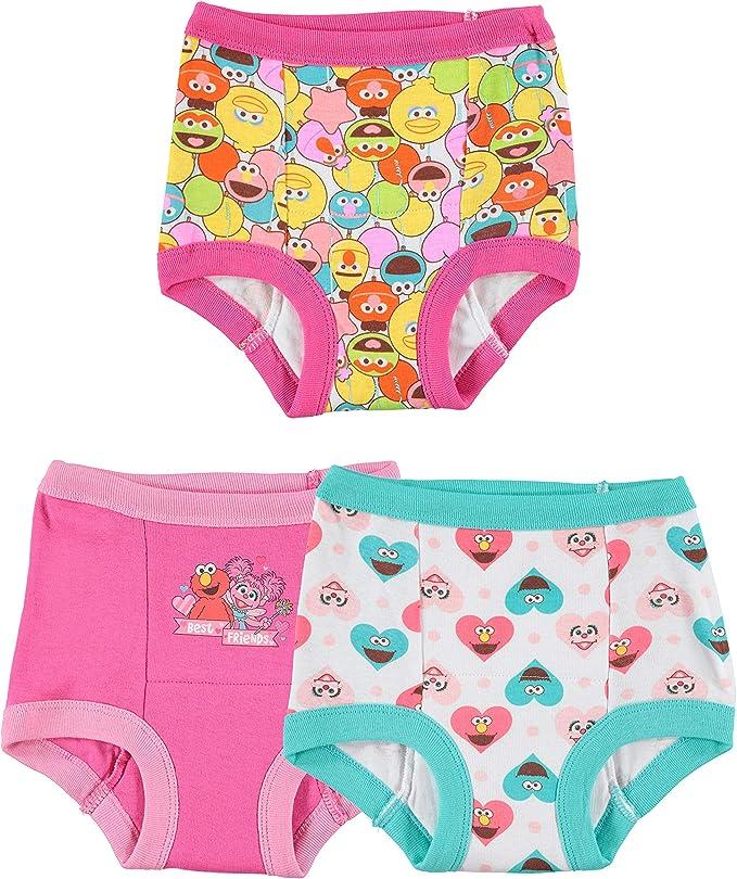 Sesame Street Girls/' Elmo Toddler 7 Pack Panty