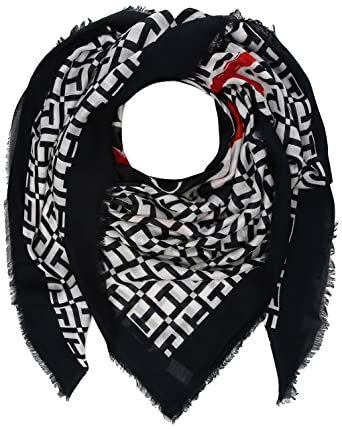 Tommy Hilfiger Women s Mascot Race Square Neckerchief, Black (Corporate  901), One ( c3914b2065d