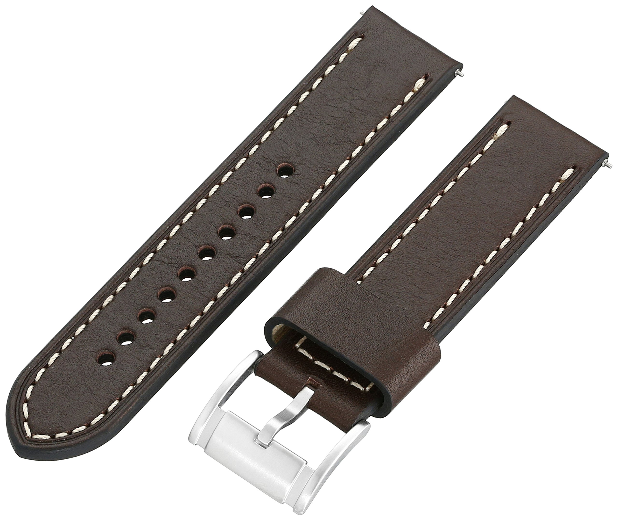 Fossil S221242 22mm Leather Calfskin Brown Watch Strap