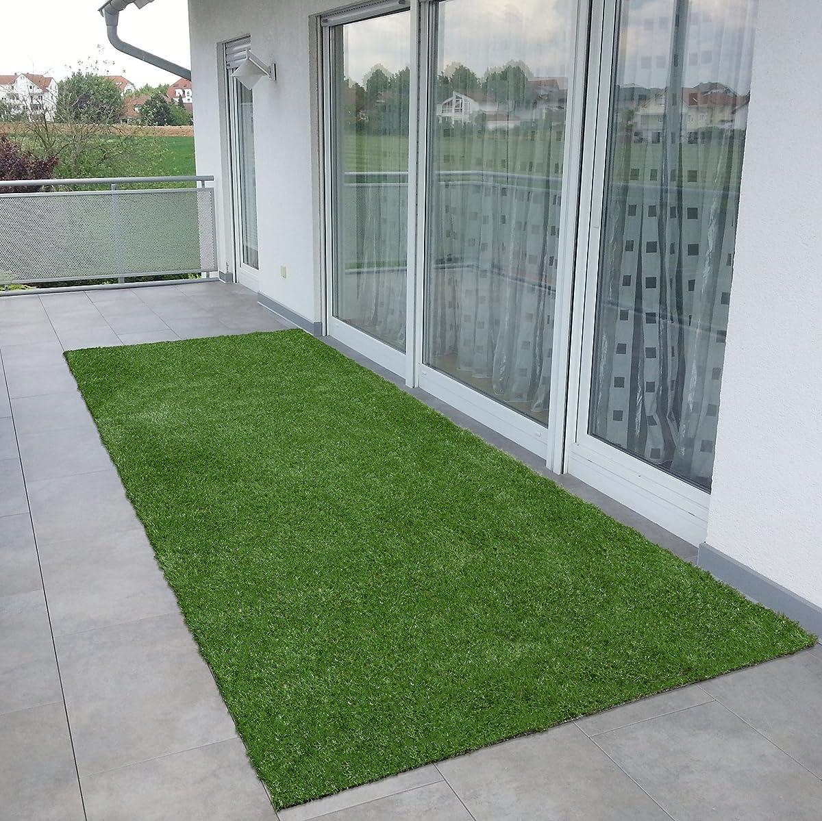 "Ottomanson Garden Collection Solid Grass Design Runner Rug, 20"" x 59"", Green"