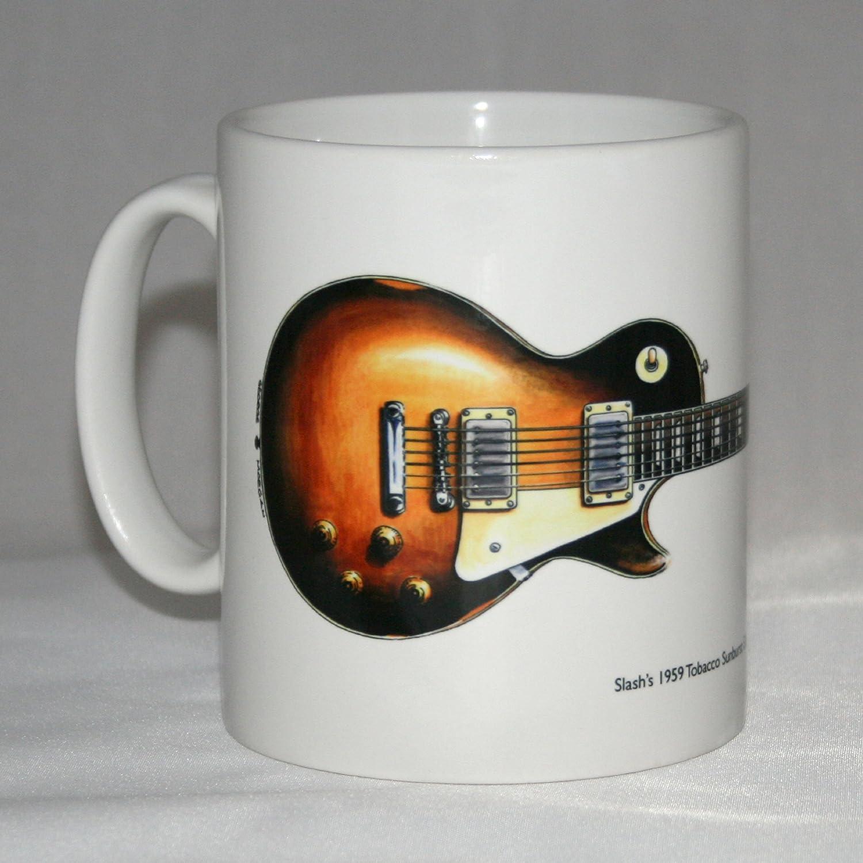 Taza de guitarra. Ilustración de Gibson Les Paul de 1959 de Slash ...