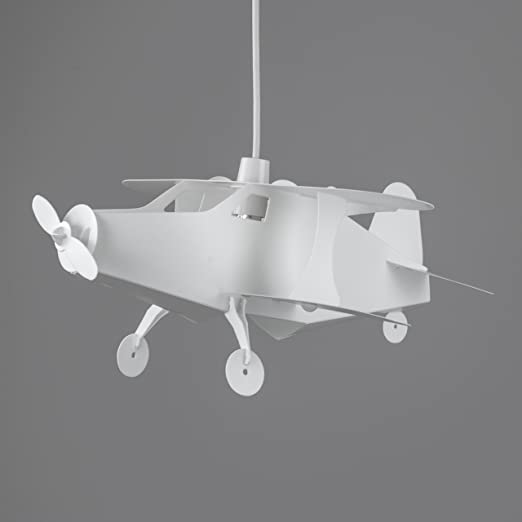 Fun childrens bedroombaby nursery white aeroplane ceiling cot fun childrens bedroombaby nursery white aeroplane ceiling cot mobile lamp pendant light shade aloadofball Gallery