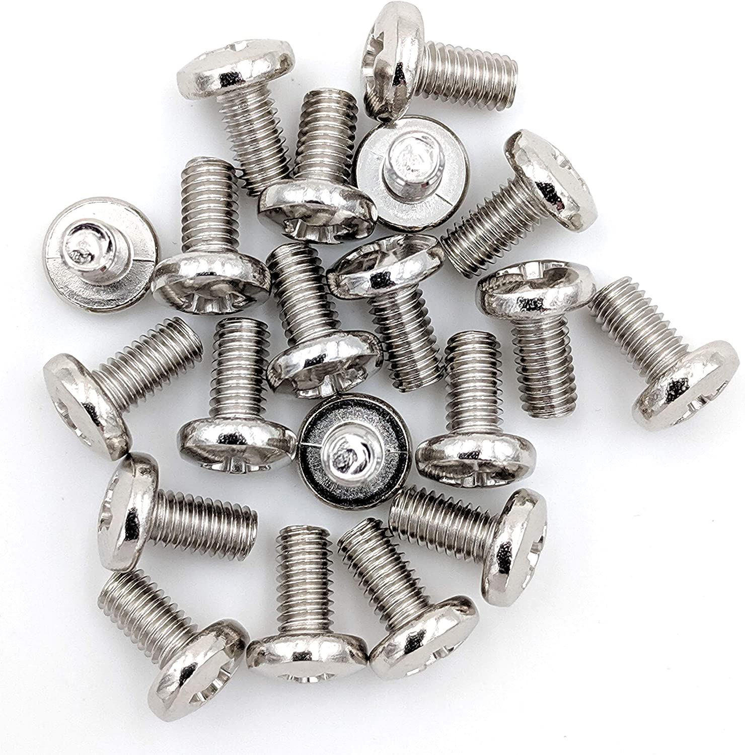 100-Pack Nickel Plated Chrome Cabinet Screws for CB and 10 Meter Radios 100 Cover