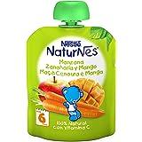 Nestlé Naturnes - Bolsitas de Manzana, Zanahoria y Mango - A Partir de 6 Meses - Pack de 8 x 90 g