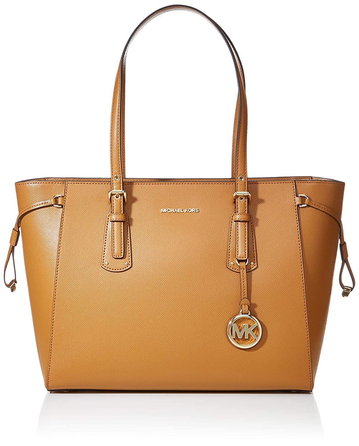 25ca992ae876 Amazon.com  MICHAEL Michael Kors Voyager Medium Leather Tote (Acorn)   Michael Kors  Shoes