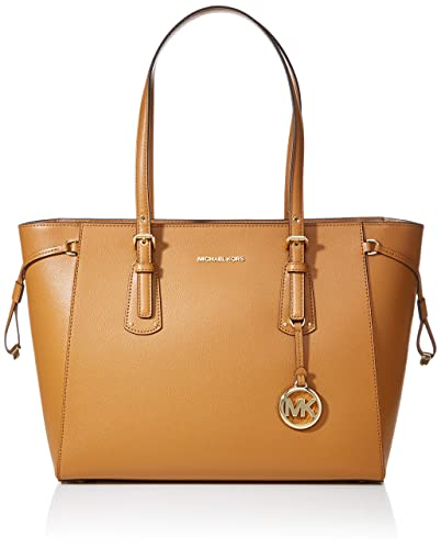 12a3e0fe31e7 Amazon.com: MICHAEL Michael Kors Voyager Medium Leather Tote (Acorn): Michael  Kors: Shoes