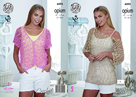 King Cole Ladies Tunic And V Neck Tops Crochet Pattern 4495 Amazon