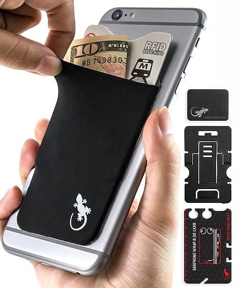 Cartera de teléfono Gecko – Soporte para teléfono – Tarjetero adhesivo para celular – Bolsa de