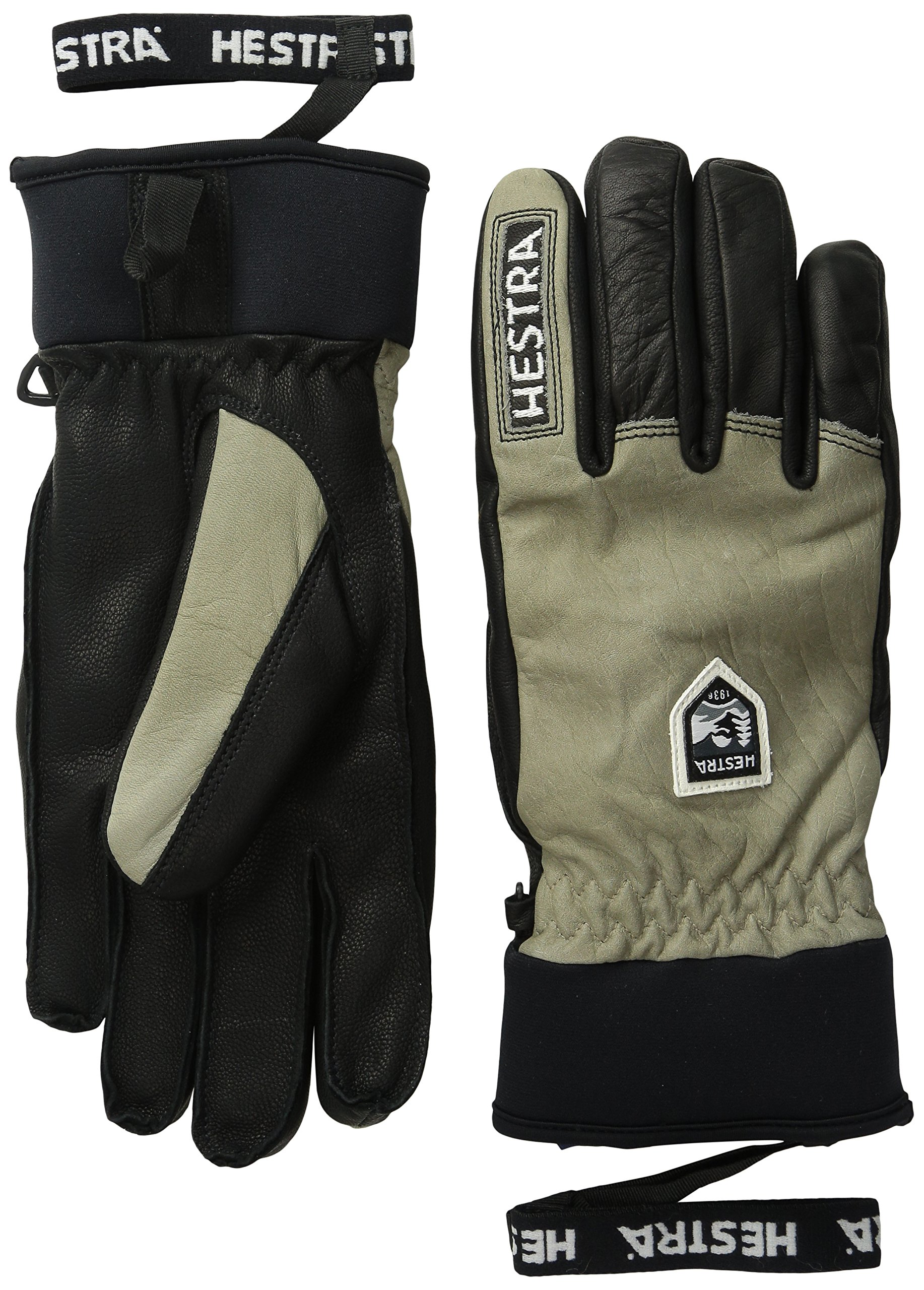 Hestra Army Leather Wool Gloves, Earth/Black, 8