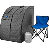 Durasage Lightweight Portable Personal Steam Sauna Spa for Weight Loss, Detox, Relaxation at Home, 60 Minute Timer, 800 Watt