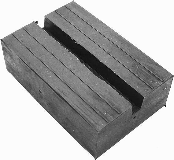 100x25mm Gummiauflage mit Nut f/ü r Wagenheber und Hebeb/ü hnen Gummiprodukt