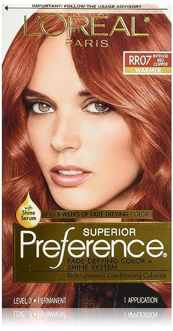 Amazon loral paris superior preference permanent hair loral paris superior preference permanent hair color rr 07 intense red copper urmus Choice Image