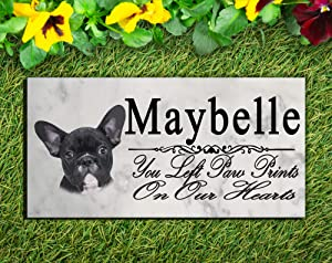 Broad Bay Black French Bulldog Dog Memorial Stone Personalized French Bulldog Sign Garden Marker Outdoor Grave Headstone Plaque