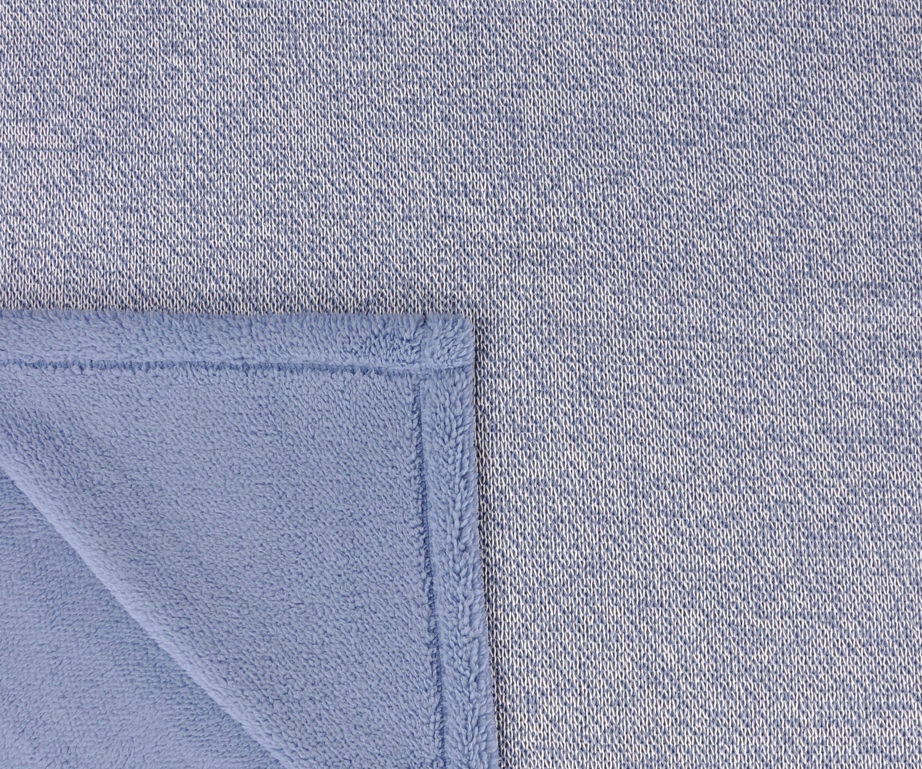 Sherpa Throw Blanket Super Soft Cozy with Plush Fleece for Coach and Bed | Size 50''x 60'' Reversible Warm Knitted Blanket for All Season Blue by Terrania (Image #3)