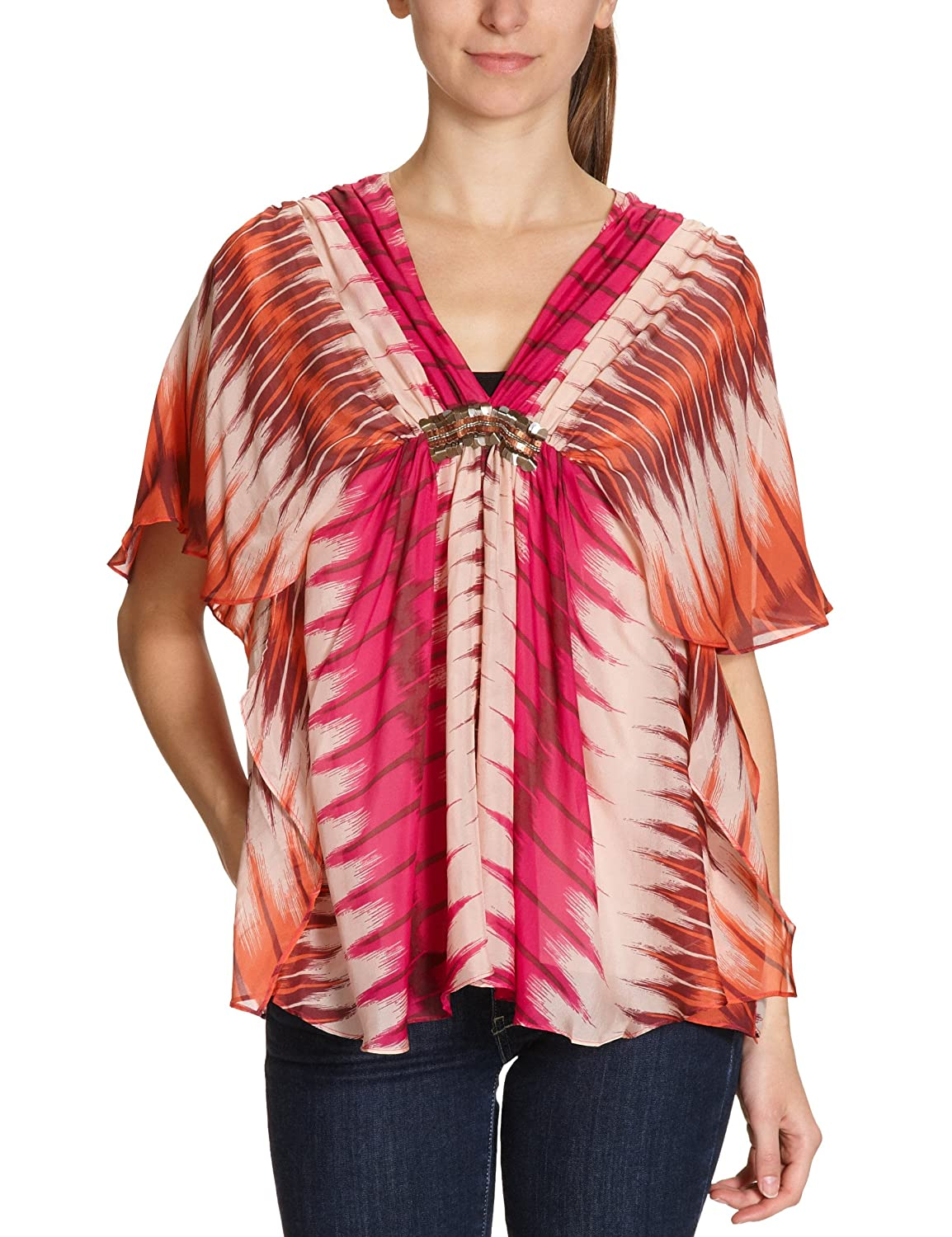 Antik Batik Damen Top, All over Druck FLAME1TEE