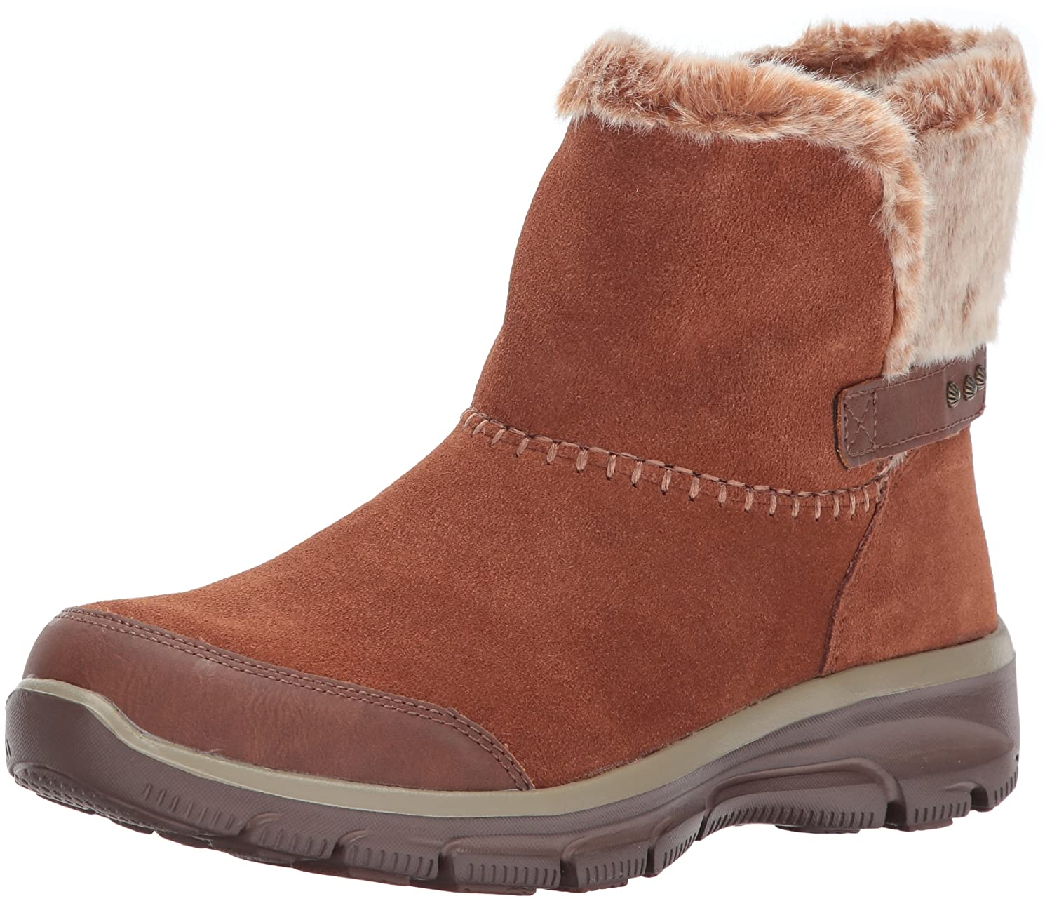 Brown Skechers Womens Easy Going - Quantum Ankle Bootie