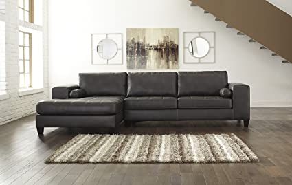 Groovy Amazon Com Nokomis Contemporary Charcoal Color Sectional Download Free Architecture Designs Scobabritishbridgeorg