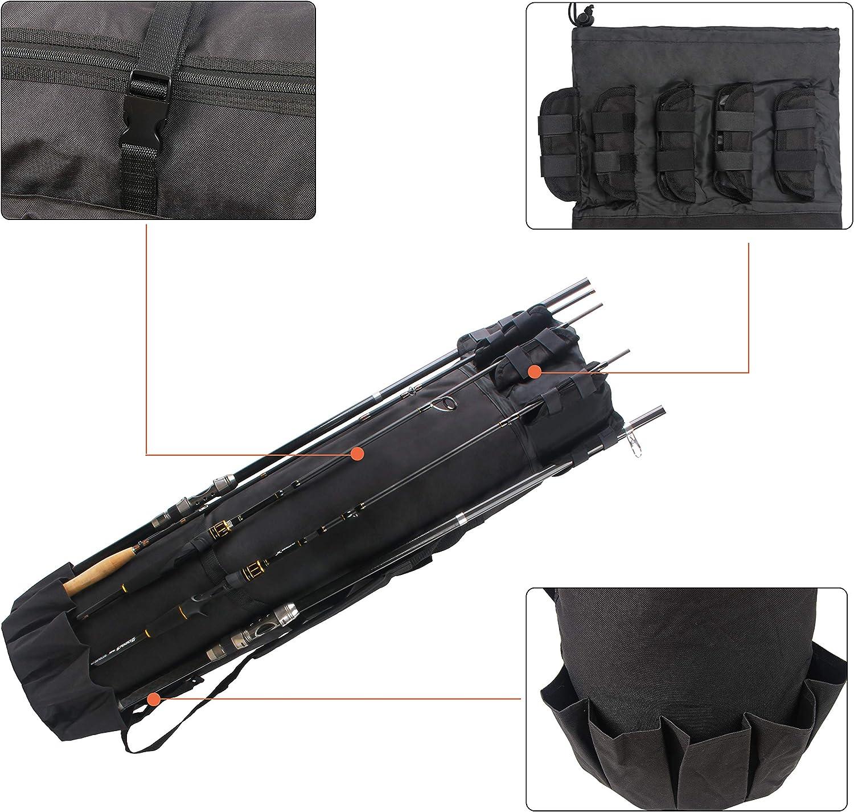 Shaddock Angelrutenhalter mit gro/ßer Klemm/öffnung zusammenklappbar, RH30-2 St/ück um 360 Grad verstellbar f/ür Angelruten