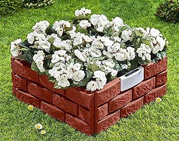UPP® Plate-bande Brique solaire Clôture de jardin/plate-bande ...