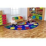 Rainbow[tm] Semi-Circle Carpet MAT1052