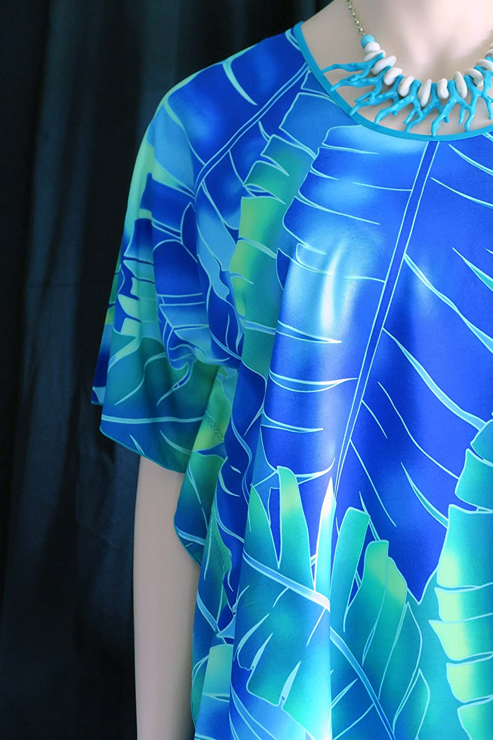 56cc4139a069a ... Hawaiian Polu Awawa (blue valley) Woman Polynesian Butterfly caftan,  Shirt, tunic, ...