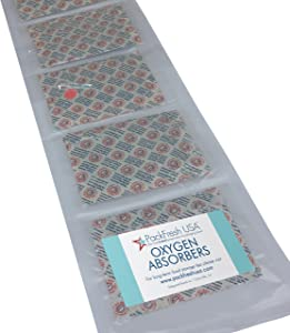 2000cc Oxygen Absorbers Individually Sealed (15) with PackFreshUSA LTFS Guide