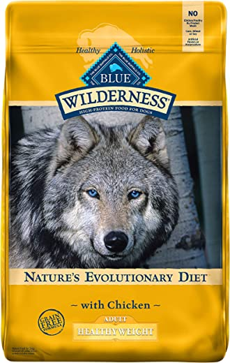 Blue Buffalo Wilderness High Protein, Natural Adult Healthy Weight Dry Dog Food, Chicken