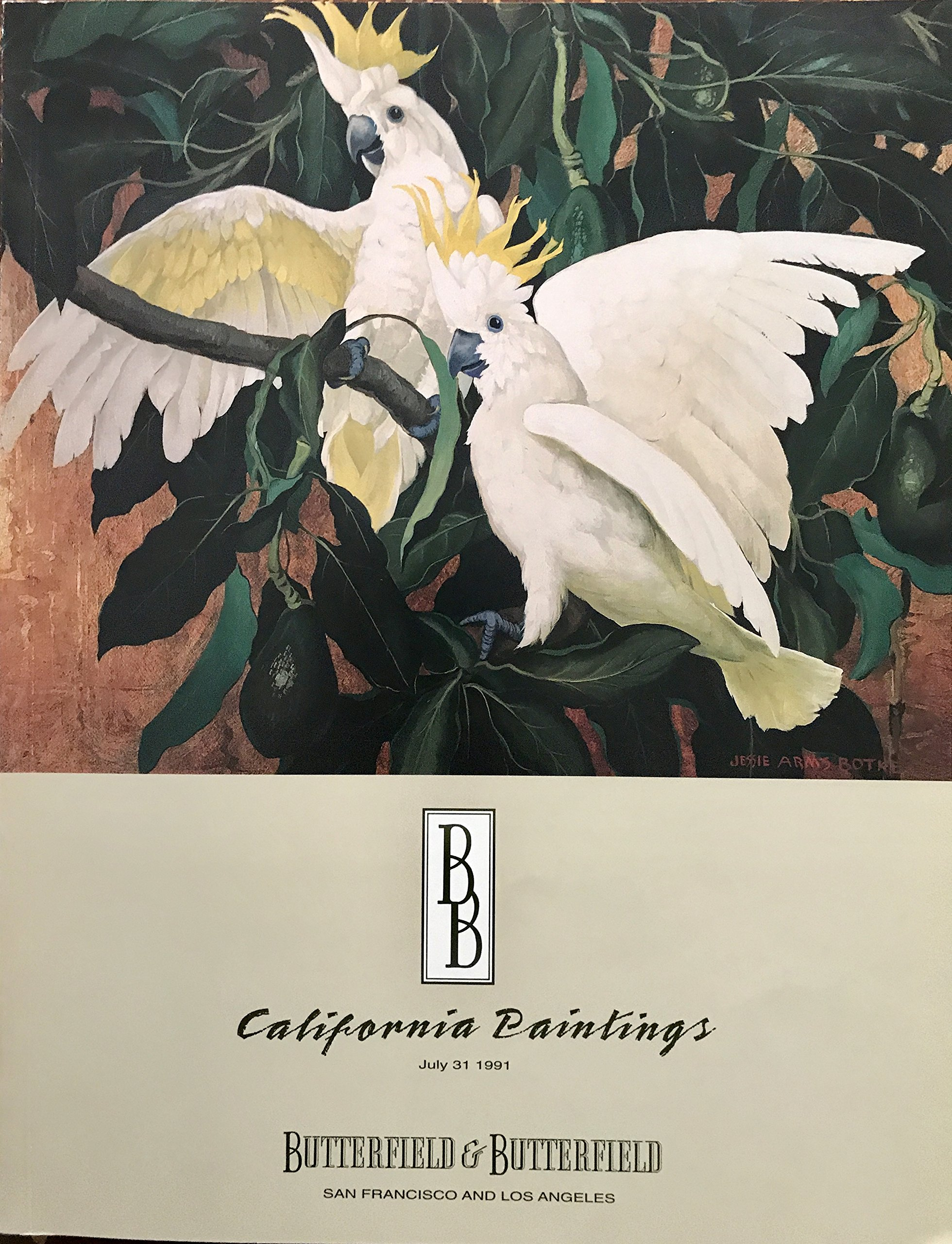 California Paintings July 31, 1991 in San Francisco and Los