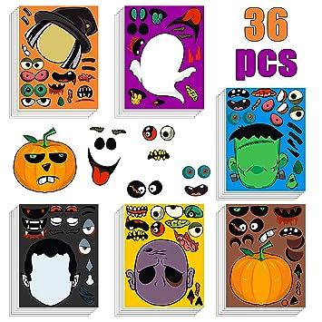 Amazon.com: MALLMALL6 36 pegatinas de Halloween para niños ...
