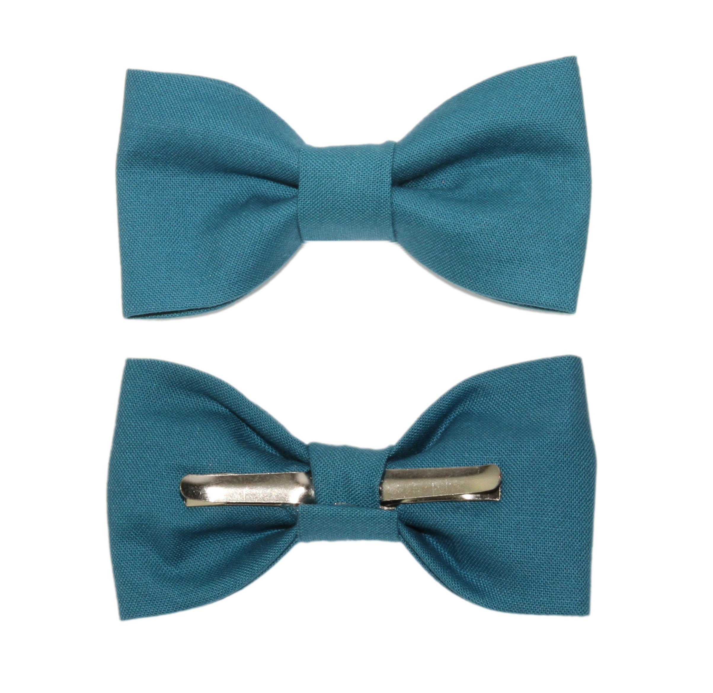 Toddler Boy 4T 5T Teal Clip On Cotton Bow Tie by amy2004marie