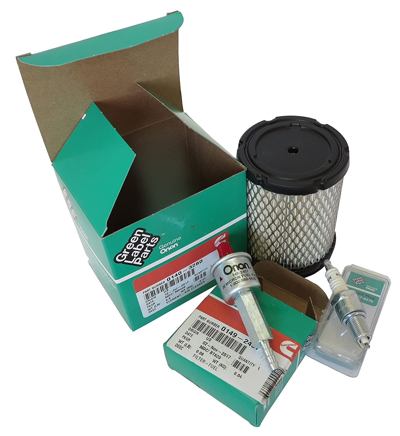 Tune Up Kit For Onan Rv Generator Model Ky 4000 Spec A P Non Evap Fuel Filter Models Parts Specialists