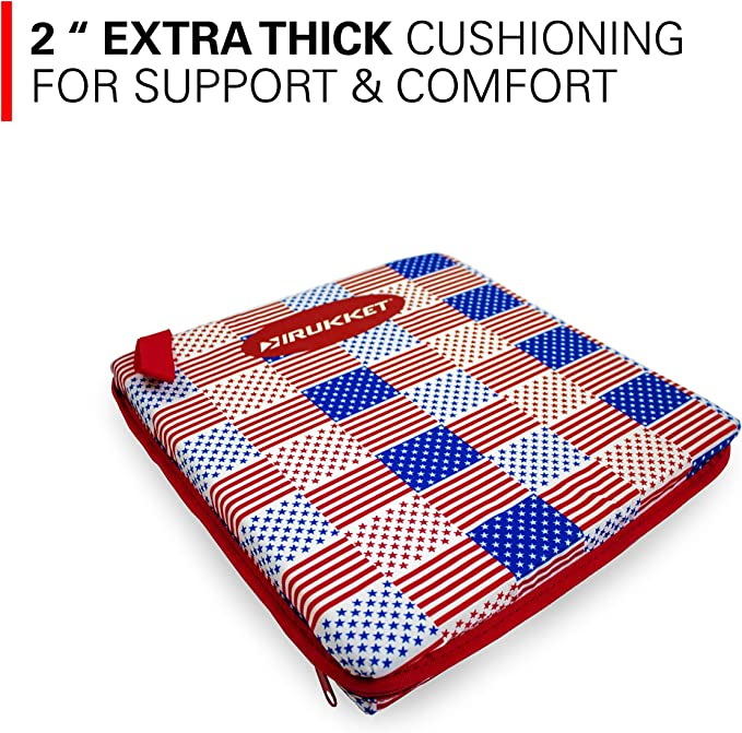 Fields Portable Thick Pad for Boats Airplanes Sports Foam Pads for Chairs and Camping Sporting Events Rukket Stadium Seat Cushion for Bleacher Sitting