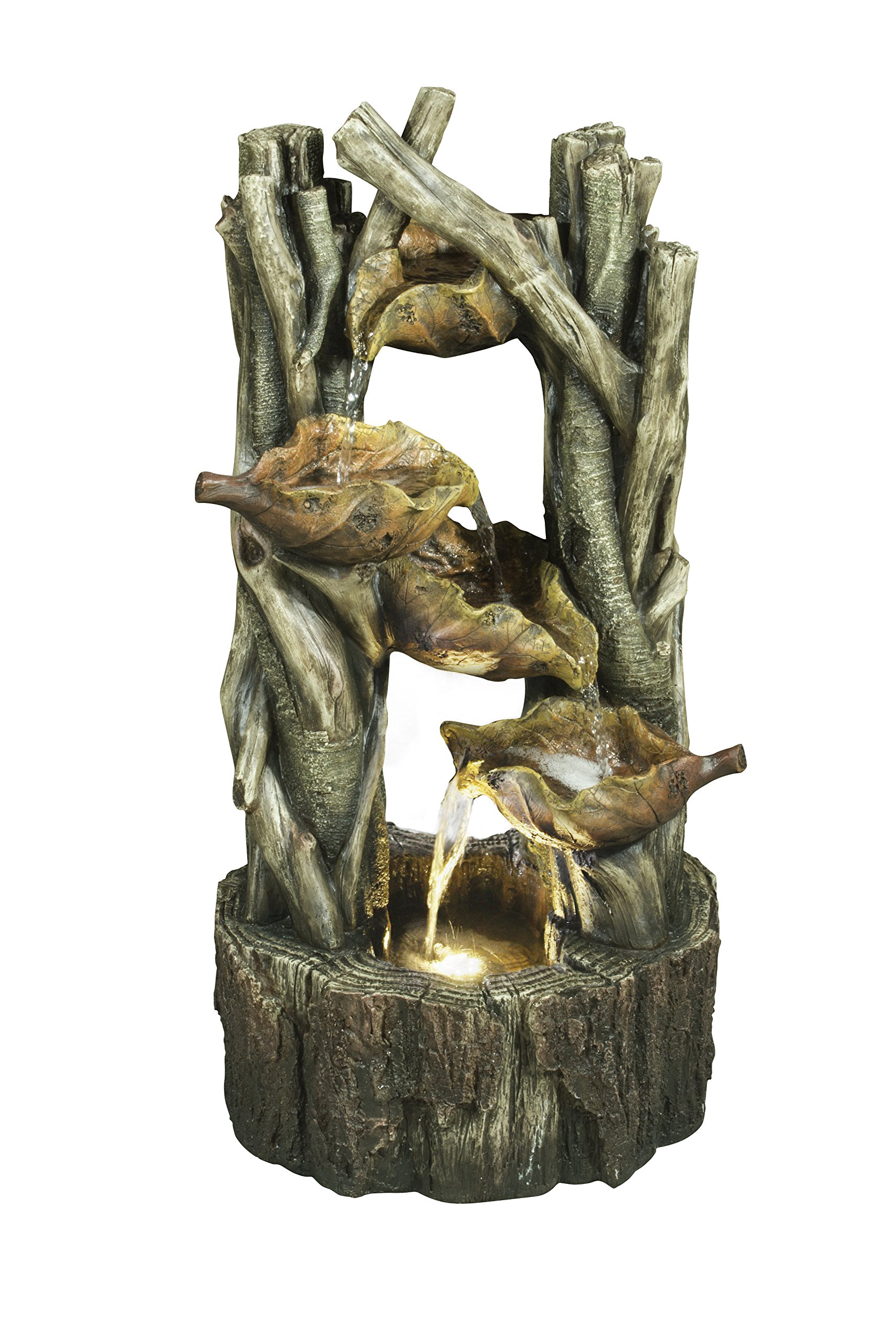 Hi-Line Gift Ltd Leaves and Branches Fountain with LED Light