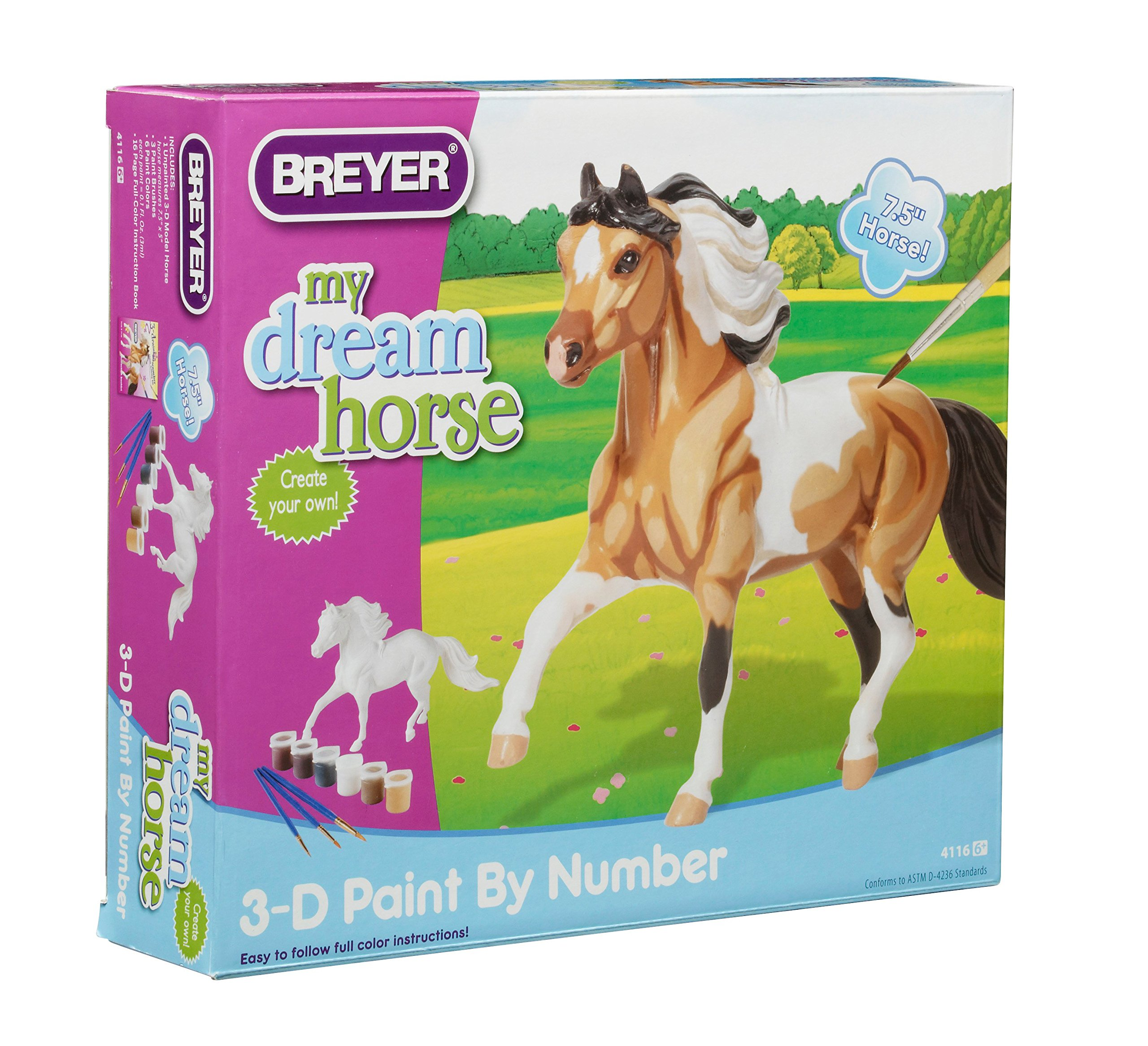 Breyer 3D Paint by Number Pinto Horse Craft Activity Set