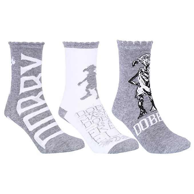 Harry Potter -:- Hogwarts 3 x calcetines grises HARRY POTTER: Amazon.es: Ropa y accesorios