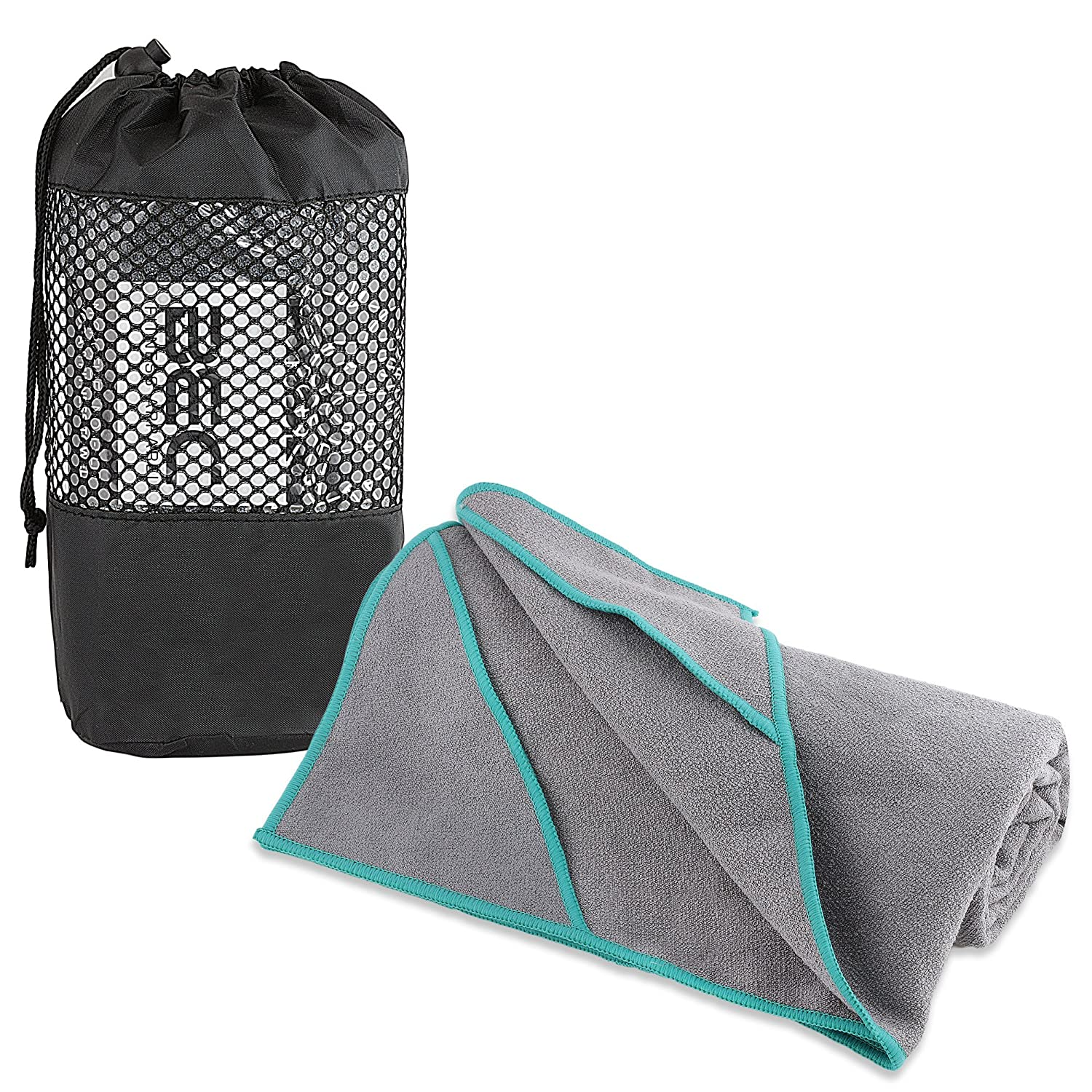Yoga Towel for Bikram Hot Yoga or Any Type Of Yoga By Bec Fitness Apparel. Enjoy A Skidless, Peaceful Practice On Your Mat With Our Non Slip Corners That Provide Grip. (72 X 24)