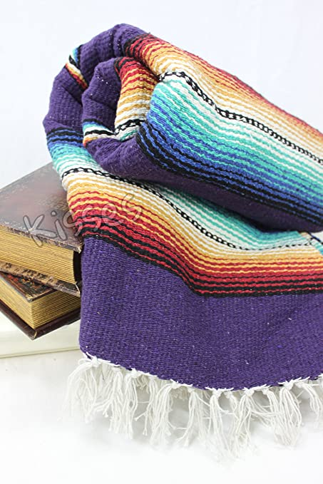 Mexican Serape Blanket Horse Beach Yoga Sarape Throw Zarape Southwestern 5x7