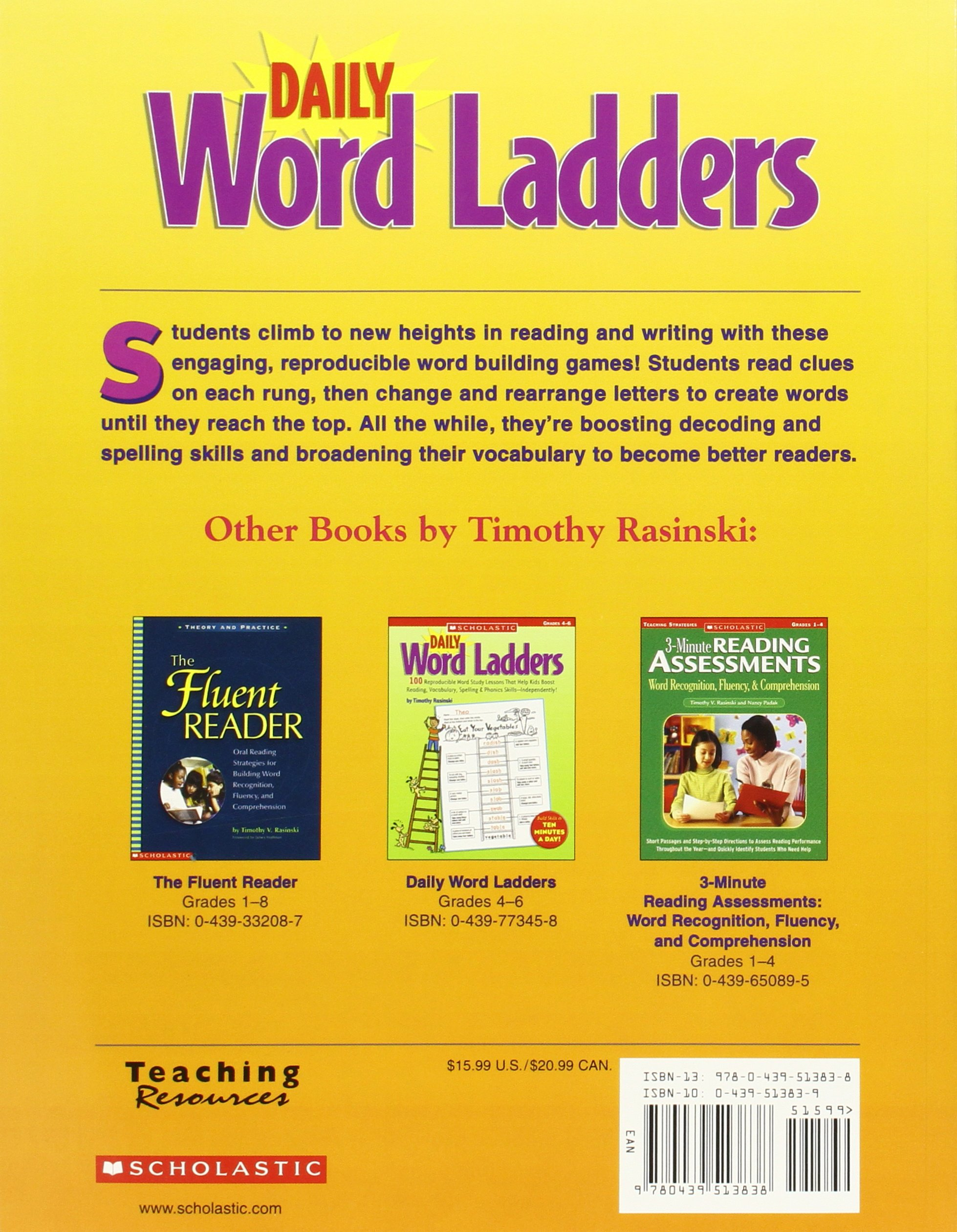 Amazon: Daily Word Ladders: Grades 2–3: 100 Reproducible Word Study  Lessons That Help Kids Boost Reading, Vocabulary, Spelling & Phonics